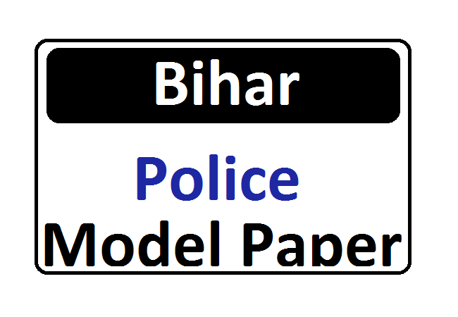 Bihar Police Constable Model Question Paper CSBC Police Previous Paper