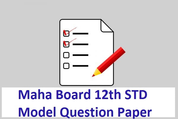 Maha Board 12th STD Model Question Paper 2020