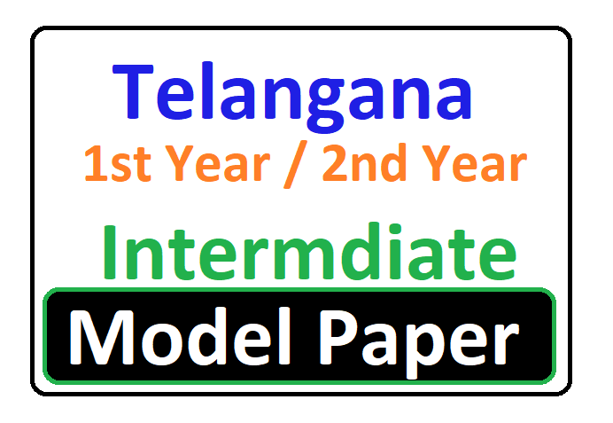 TS Inter 1st Year Model Paper 2020 Telangana Inter 1st/2nd Year Guess Question Papers
