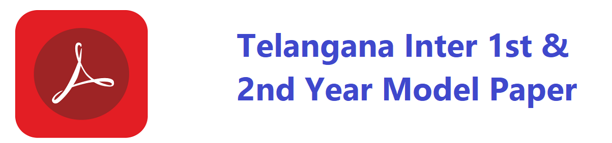 Telangana Inter 1st/2nd Year Guess Question Paper