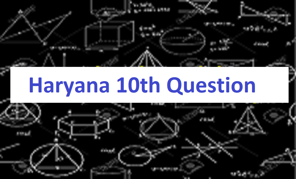 Haryana 10th Question Paper 2021 HBSE X Model Paper 2021 Haryana 10th Previous Paper 2021