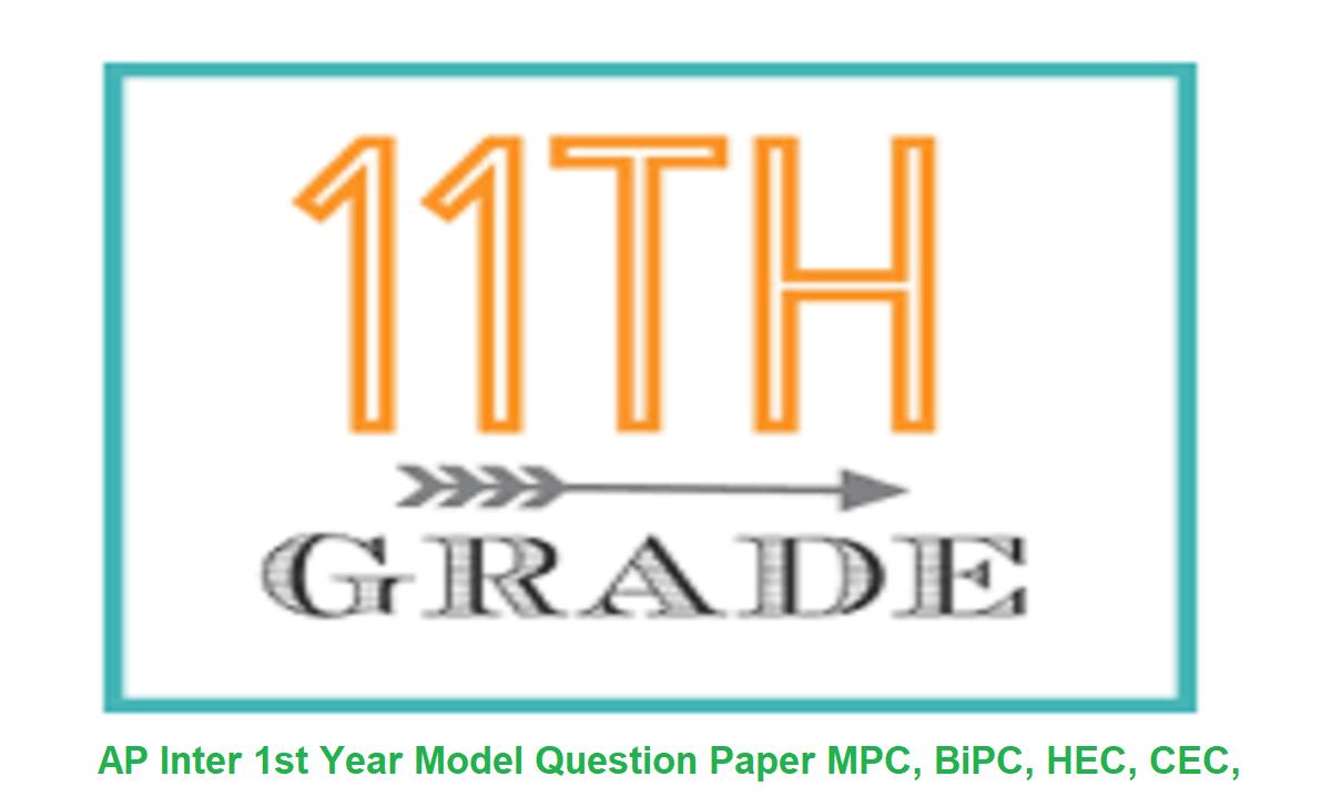 AP Inter 1st Year Model Question Paper 2021, MPC, BiPC, HEC, CEC, AP 11th Previous Paper 2021